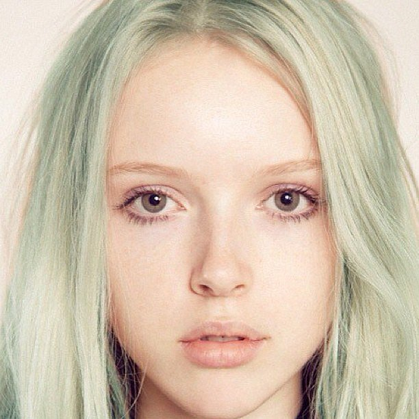 Pastel-green hair: only for the extremely brave. Source: Instagram user wildkingshair