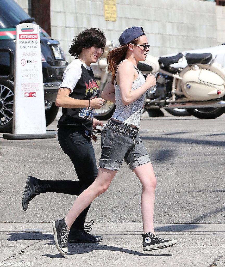 Kristen Stewart and a friend hopped into a waiting car.