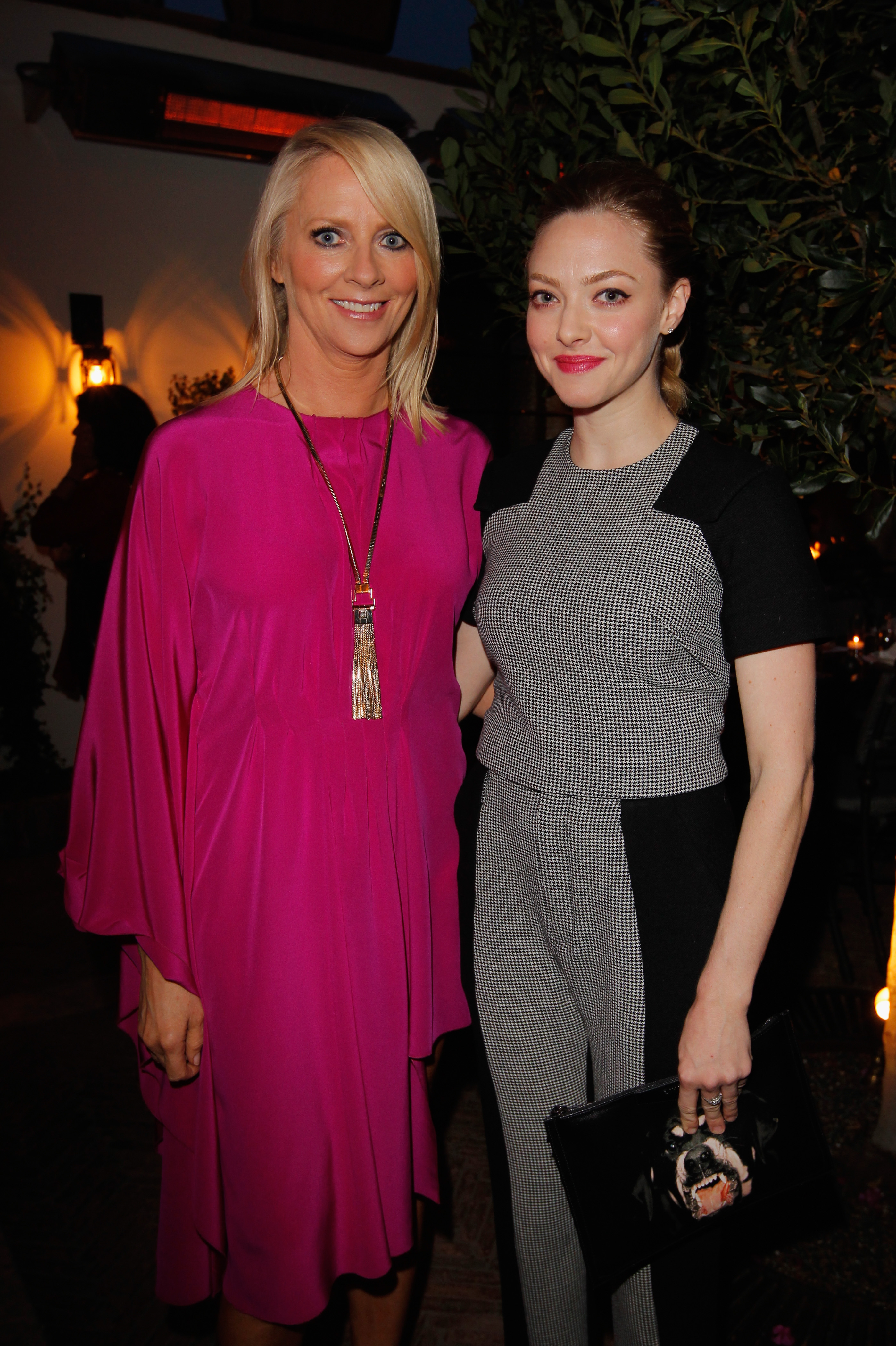 Amanda Seyfried posed with Allure magazine's editor in chief Linda Wells at the Look Better Naked launch party.