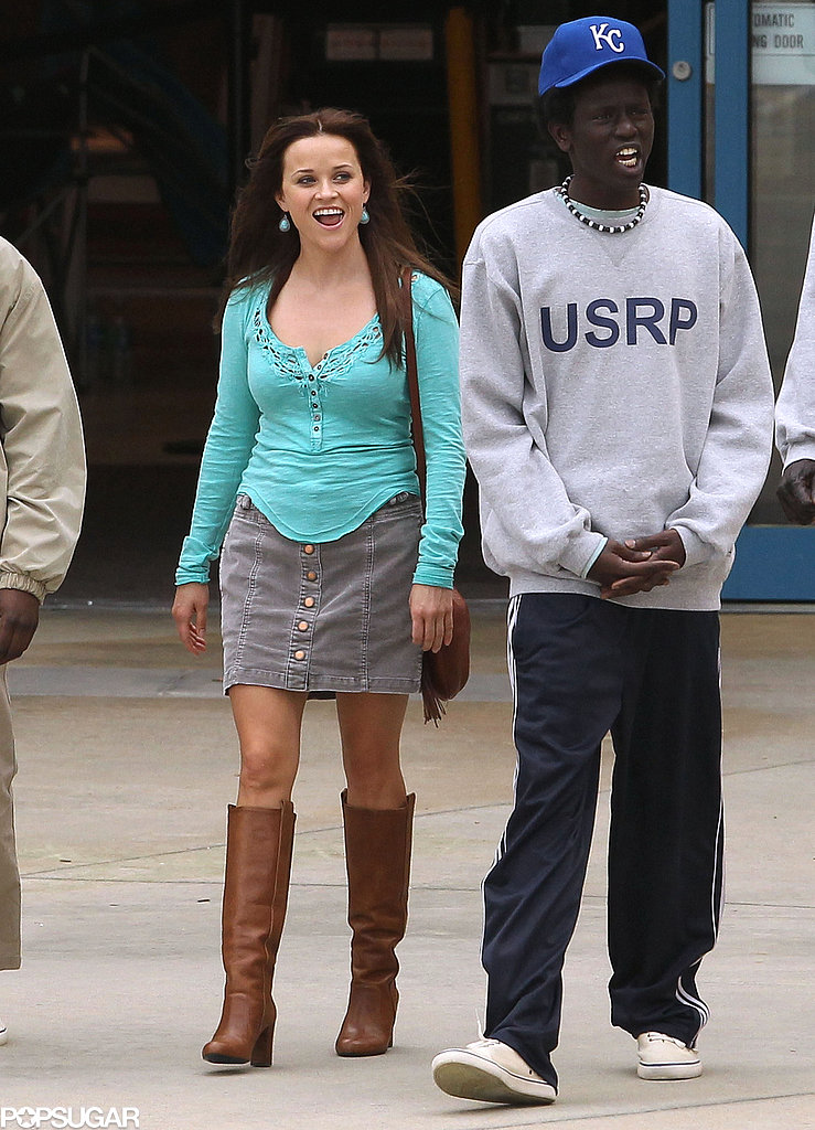 Reese Witherspoon hit the set of The Good Lie in Atlanta.