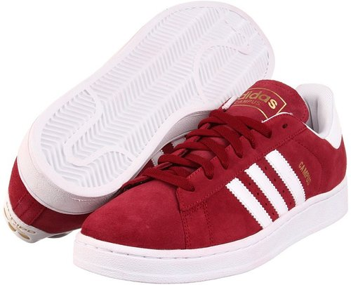 adidas Originals - Campus 2 (Cardinal/White/Metallic Gold) - Footwear