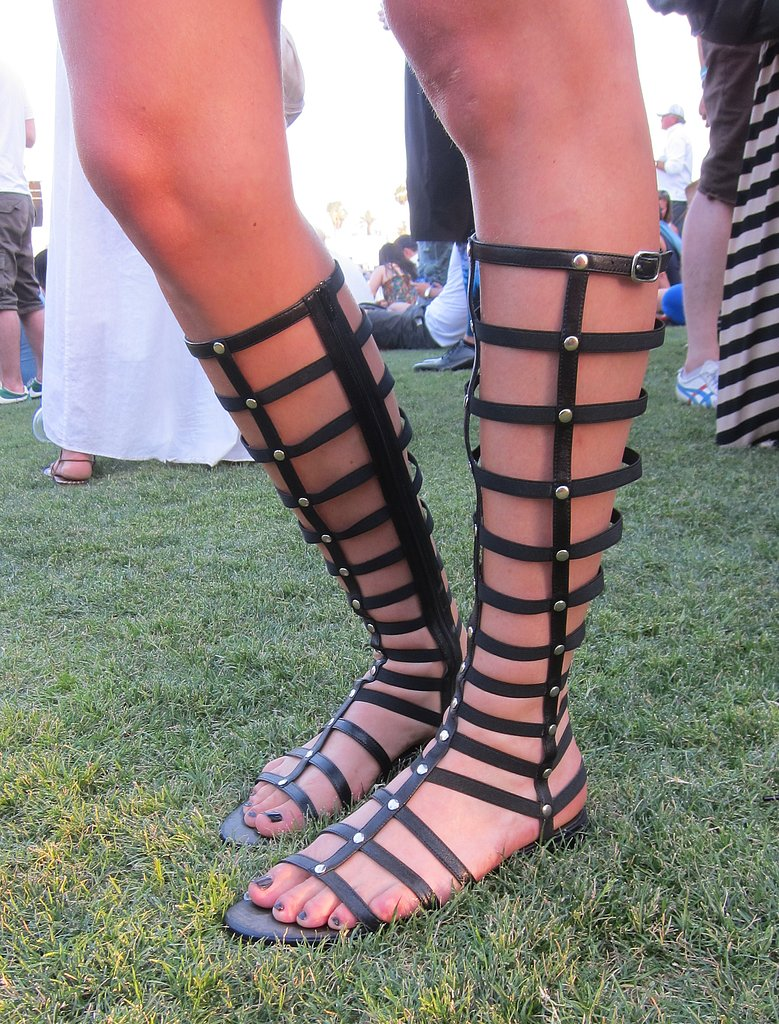 We saw Spring-runway-inspired gladiator sandal-boot hybrids in real life this weekend. Just remember a heavy dose of sunblock to keep the tan lines in check!