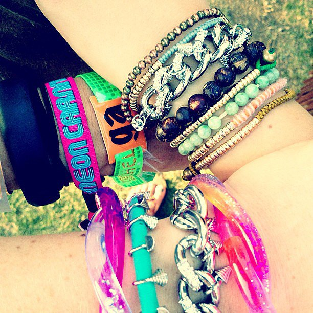 Rebecca Minkoff and her team showed off their cool Coachella arm parties. Source: Instagram user rebeccaminkoff