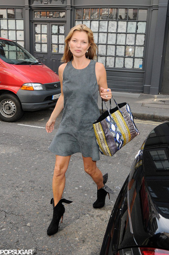 Kate Moss headed to dinner in London.