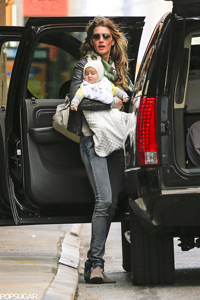 Gisele Bündchen carried Vivian for an outing in NYC.