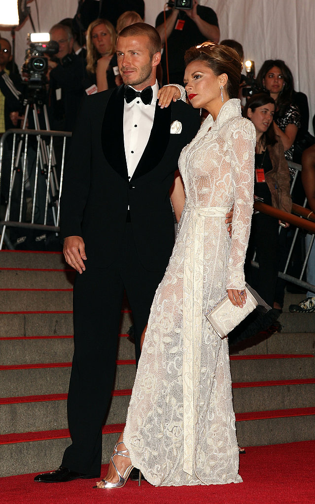 David and Victoria looked fierce at the 2008 Costume Institute Gala in NYC.
