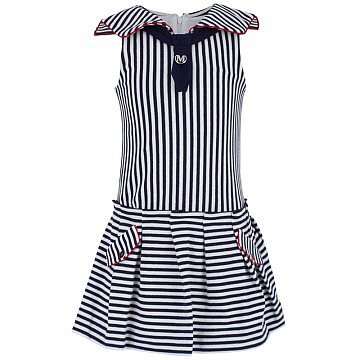 Mayoral's nautical sleeveless sailor dress ($48) is easy enough to wear every day, and dressy enough to wear for special occasions.