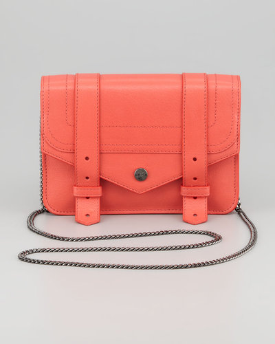 Proenza Schouler PS1 Large Chain Wallet, Deep Coral