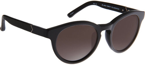 The Row Leather-Wrapped Round Frame