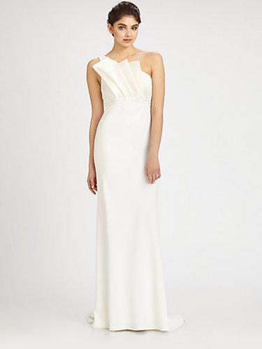 Carmen Marc Valvo Asymmetrical Gown