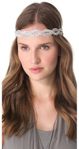 Deepa gurnani Braided Crystal Headband