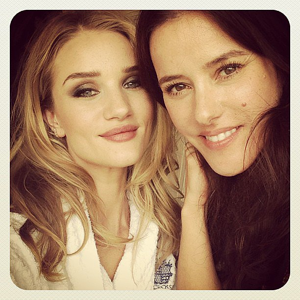 Rosie Huntington-Whiteley shared a gorgeous snap with her makeup artist. Source: Instagram user rosiehw