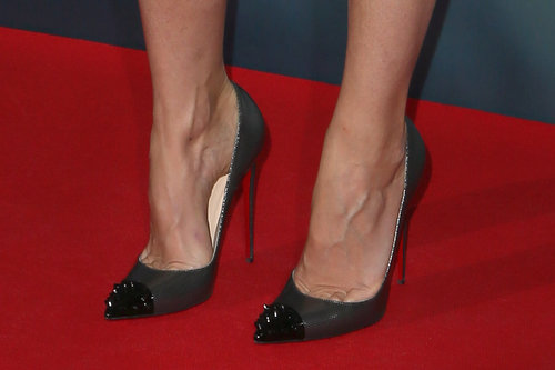 Distinguished detail: The spiked cap-toes.