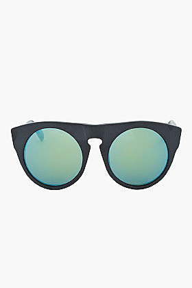 ALEXANDER WANG Solid matte black cut-out sunglasses