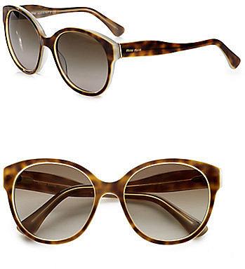 Miu Miu Round Plastic Sunglasses