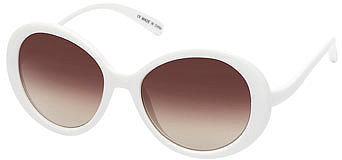 White large round sunglasses