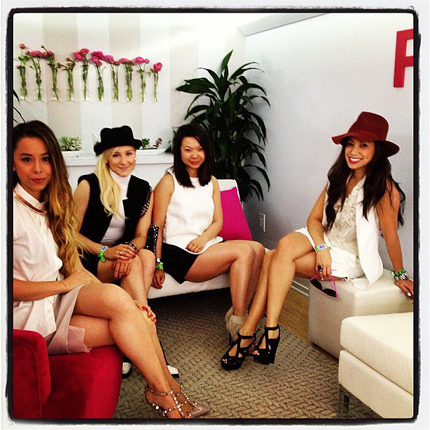 Our POPSUGAR editors took a moment out of the sun to relax in the lounge! Source: Instagram user POPSUGAR