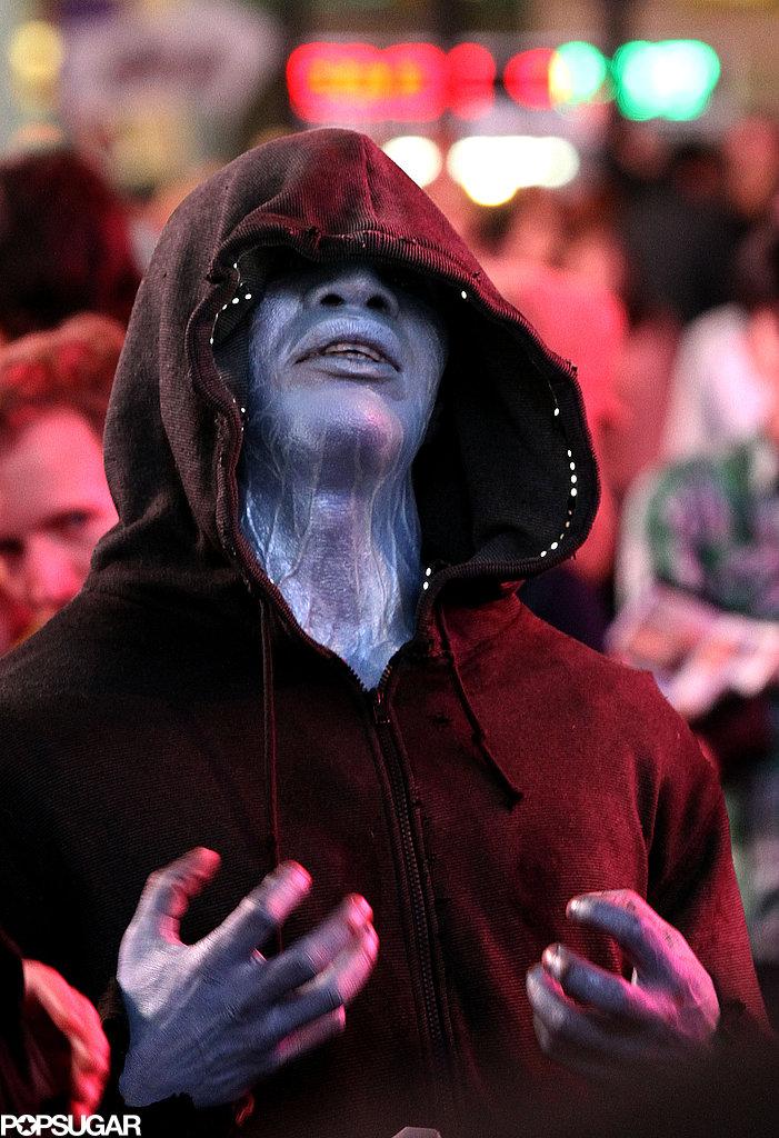 Jamie Foxx put on his blue face to play the villain ... | 701 x 1024 jpeg 175kB