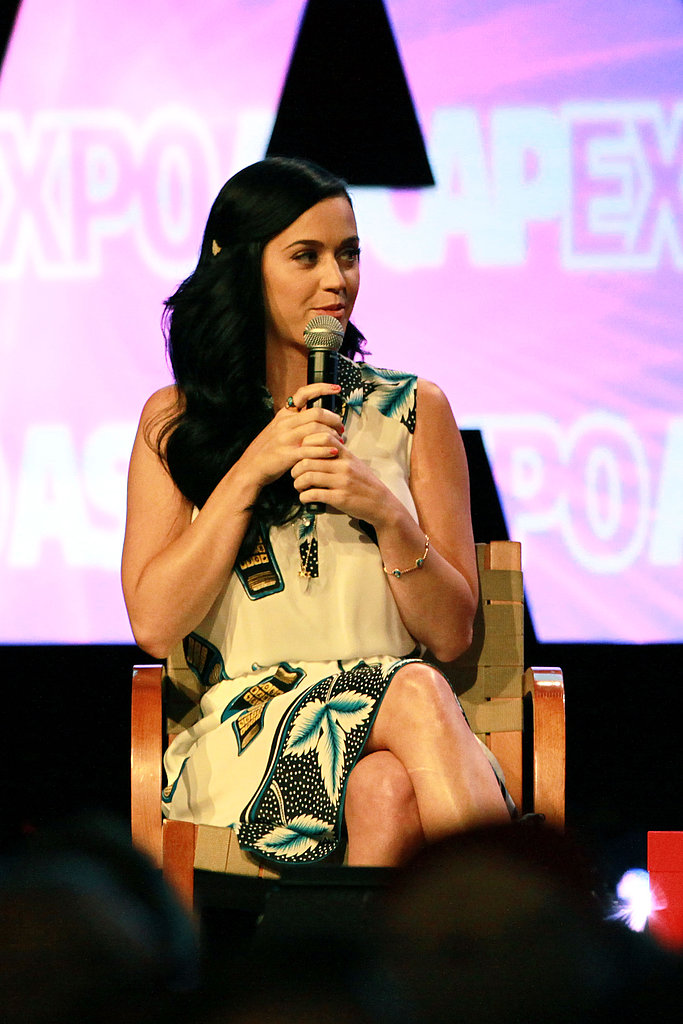 "Katy Perry talked at the ASCAP ""I Create Music"" Expo."