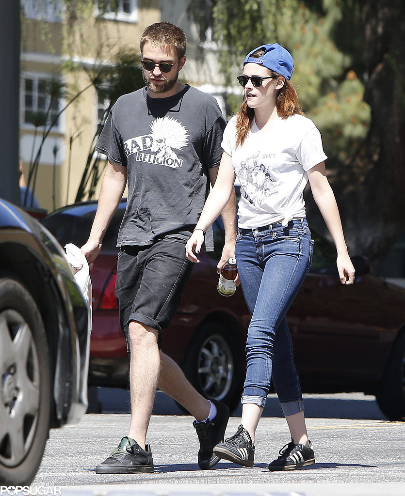 Robert Pattinson walked with Kristen Stewart.