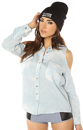 lovers + friends The Into It Top in Chambray