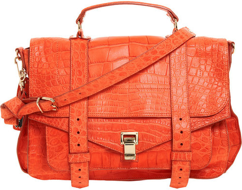 Proenza Schouler PS1 Large Crocodile