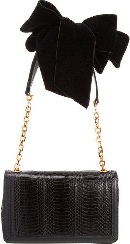 Christian Louboutin Artemis Velvet Bow Shoulder Bag