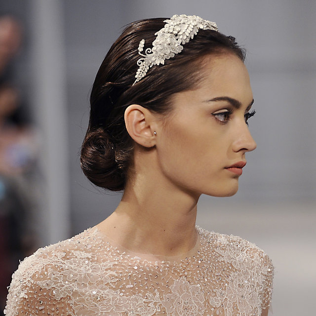 Hairstyles At Monique Lhuillier Bridal Show Spring 2014