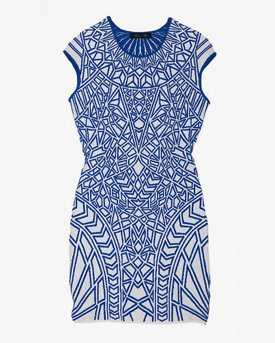 Rvn Exclusive Geometric Jacquard Knit Dress