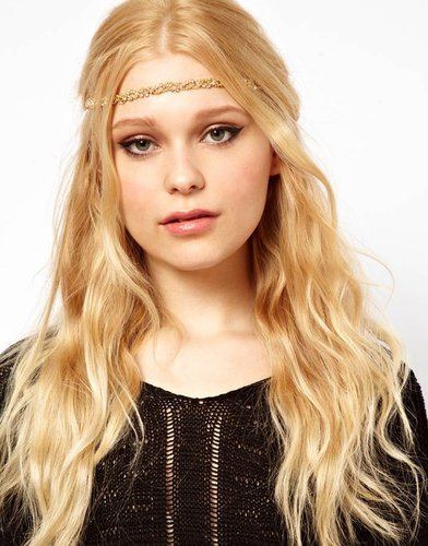 River Island Diamante Twisted Head Band