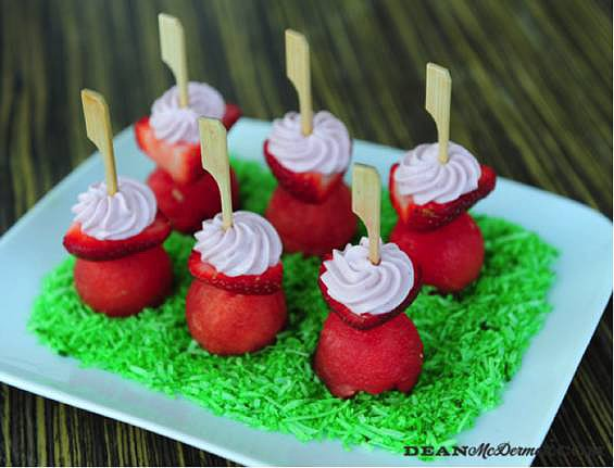Dean's Strawberry Cream Cheese Towers