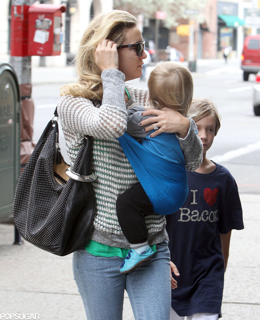Kate Hudson took Bingham and Ryder out in NYC.