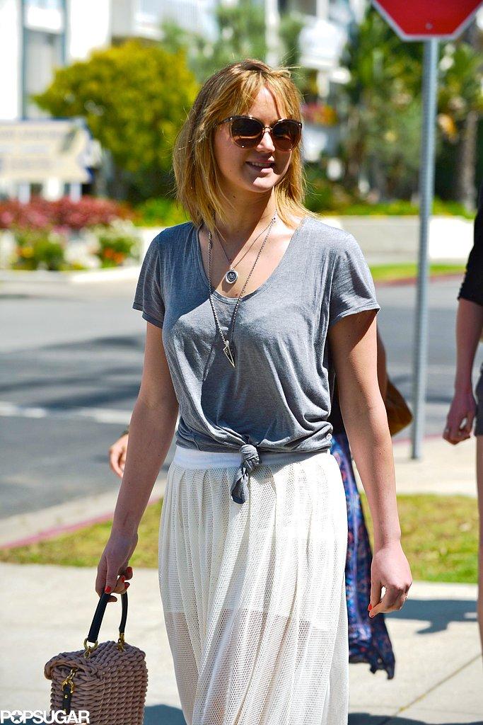 Jennifer Lawrence showed off her shorter hair.