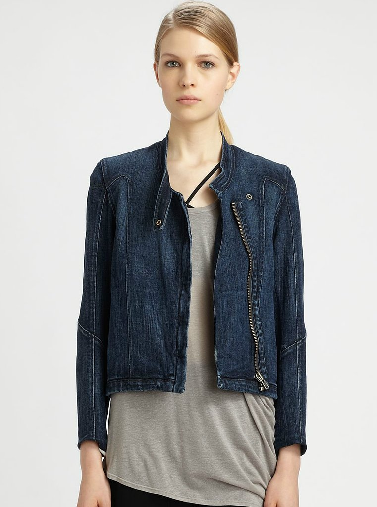 We love the modern moto cut on Helmut Lang's Denim Jacket ($221, originally $295) — perfect for pairing with a Summer dress and metallic sandals.