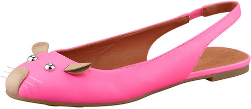 MARC by Marc Jacobs Mouse Slingback Ballerina Flat, Pink/Nude