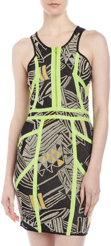 Cut25 by Yigal Azrouel Techno Knit Racerback Dress