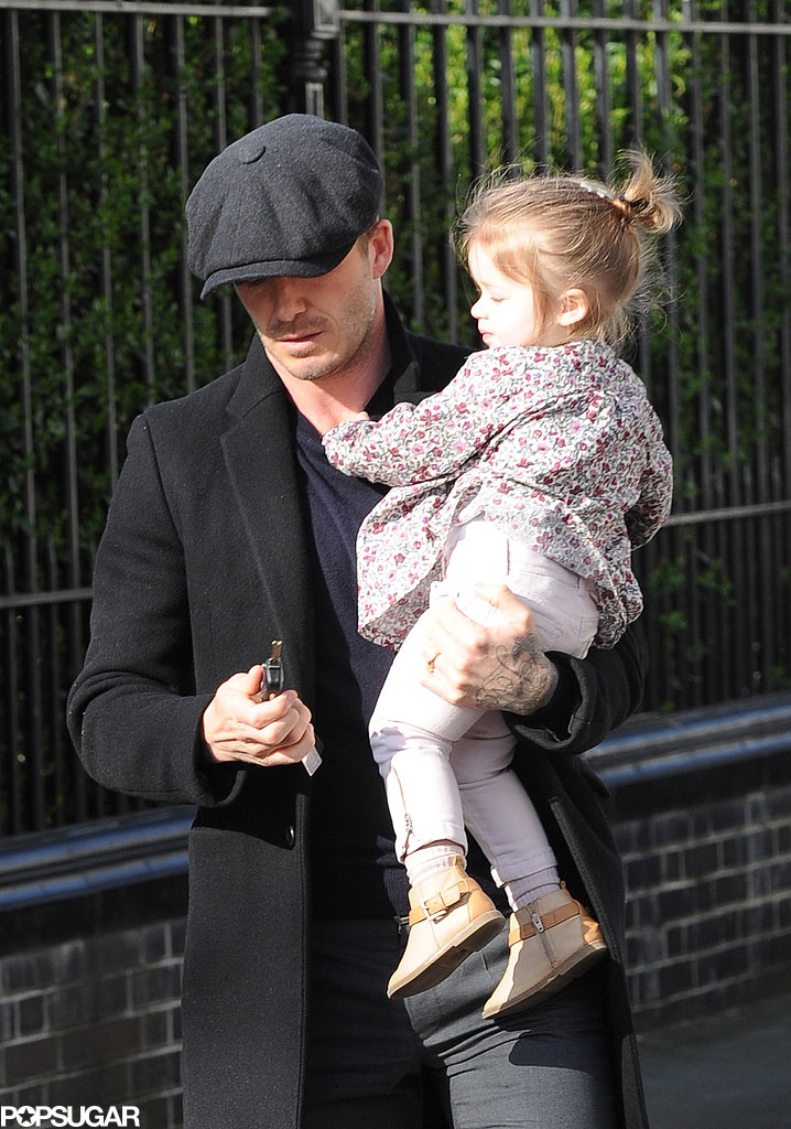 David Beckham and Harper Beckham had a day together in London.