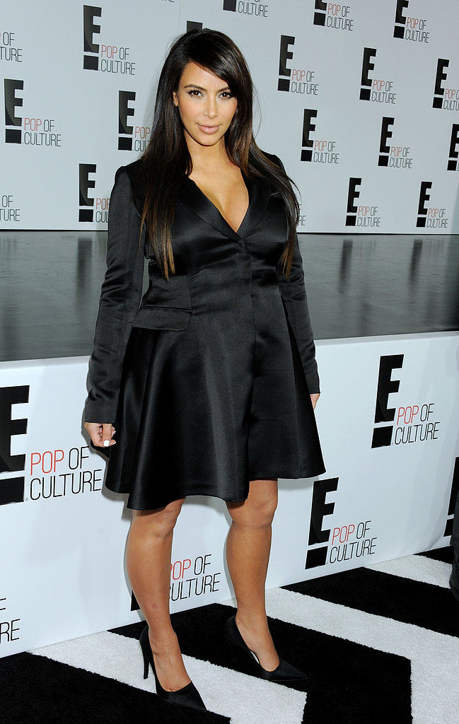 Kim Kardashian attended the E! upfronts in NYC.