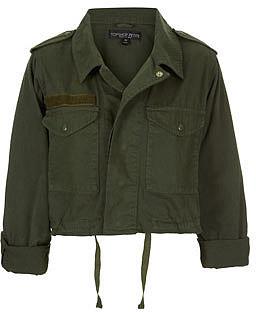Petite Cropped Army Jacket