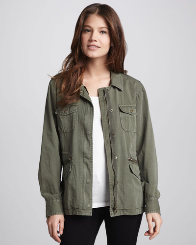 Velvet Ruby Army Jacket
