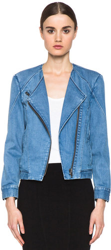 Helmut Lang Denim Moto Jacket in Indigo