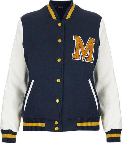 M Jersey Varsity Bomber Jacket