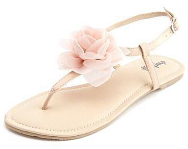 Chiffon Blossom T-Strap Sandal