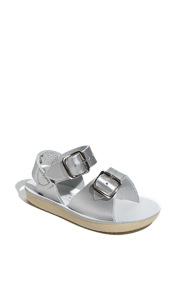 Salt Water sandals ($35) in silver are the perfect blend of stand-out-in-a-crowd and go-with-everything.