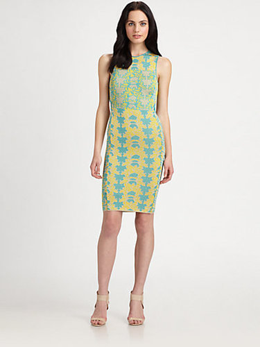 M Missoni Tropical Intarsia Open-Back Dress