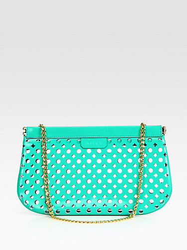 Milly Addison Lasercut Leather Clutch