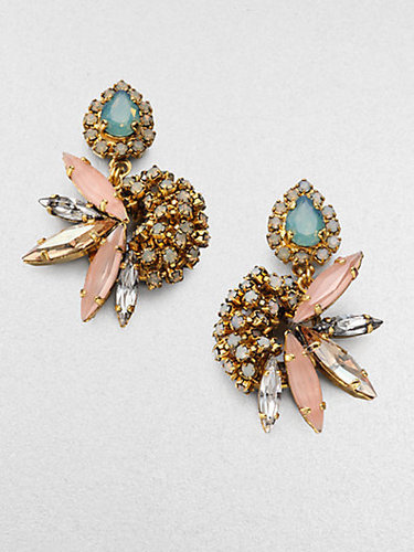 Erickson Beamon Multicolor Cluster Earrings