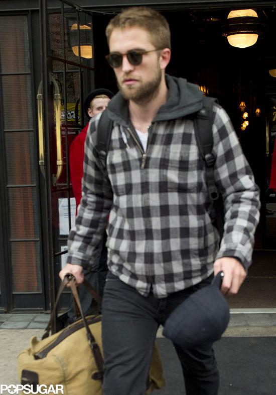 Robert Pattinson left his hotel in NYC.