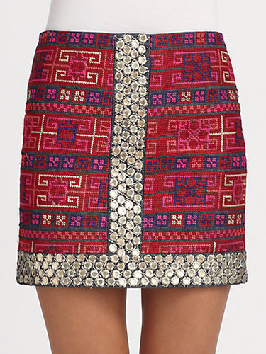 Sachin + Babi Mallory Embroidered Cotton Skirt
