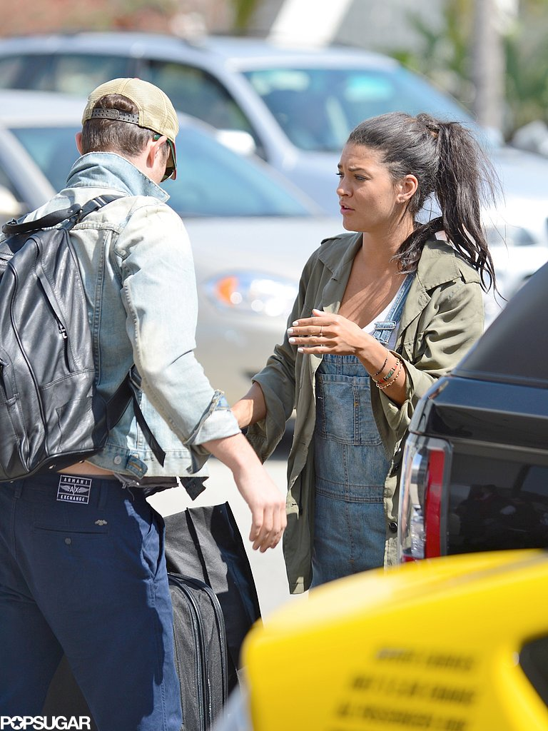Jessica Szohr dropped Ed Westwick off at LAX.